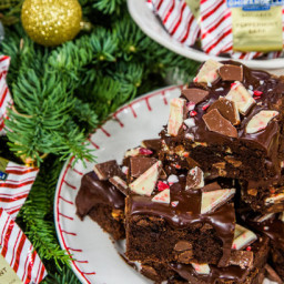 Ghirardelli Peppermint Bark Brownies
