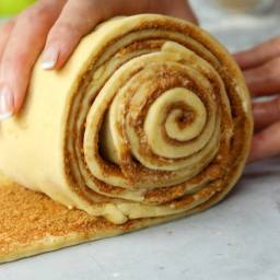 Giant Apple Pie Cinnamon Roll