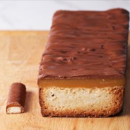 Giant Caramel Candy Bar Cake Recipe by Tasty