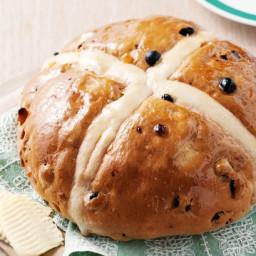 Giant hot cross bun