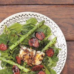 Gill's Spinach, Chorizo and Halloumi Salad