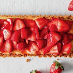 Gin-Lemon Tart with Strawberries