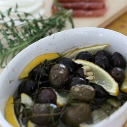 Gin Marinated Olives {Recipe ReDux}