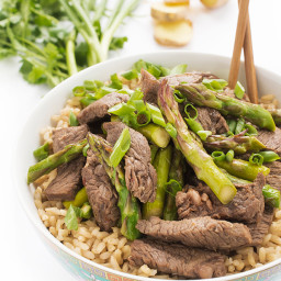 Ginger Beef and Asparagus Stir-Fry