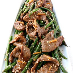 Ginger Beef and Green Bean Stir Fry