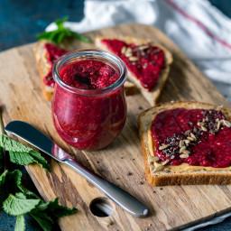 Ginger Cardamom Raspberry Chia Seed Jam