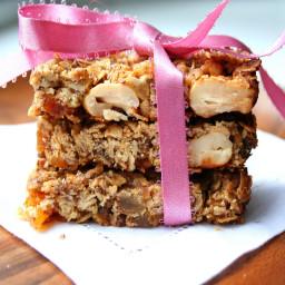 Ginger Cashew Granola Bars