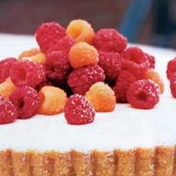 Ginger-Cream Tart with Raspberries