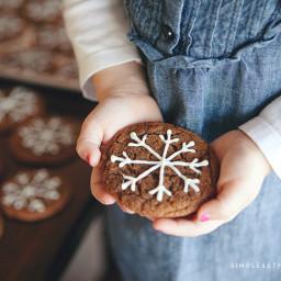 Ginger Crinkle Snowflake Christmas Cookies
