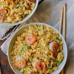 Ginger Garlic Shrimp Fried Rice