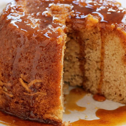 Ginger golden syrup pudding