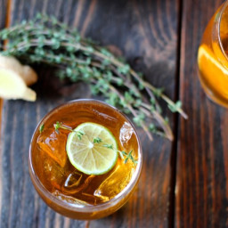 Ginger Iced Tea with Citrus and Thyme
