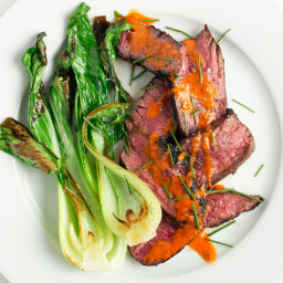Ginger-Marinated Hanger Steak