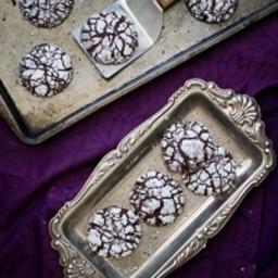 Ginger Molasses Dark Chocolate Crinkle Cookies