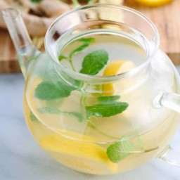 Ginger Root Tea with Lemon and Mint