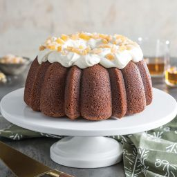 Gingerbread Bundt Cake with Bourbon Cream Cheese Frosting