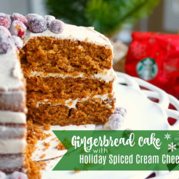 Gingerbread Cake with Holiday Spiced Cream Cheese Frosting