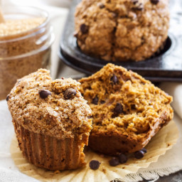 Gingerbread Chocolate Chip Muffins