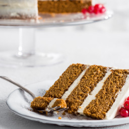 Gingerbread Layer Cake with Rum Frosting