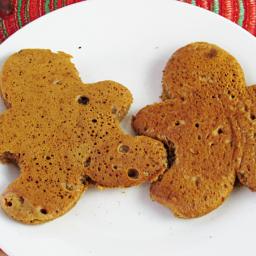 Gingerbread Man Pancakes