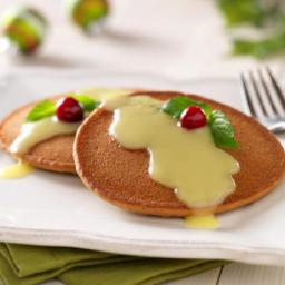 Gingerbread Pancakes with Warm Lemon Sauce