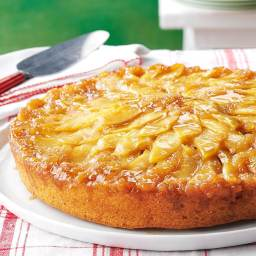 Gingered Apple Upside-Down Cake