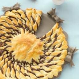 Girasole dolce di pasta sfoglia
