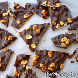 Glazed Almond Bark with Sea Salt