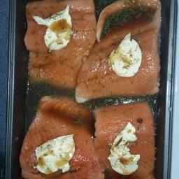 Glazed brown sugar Salmon
