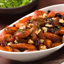 Glazed Carrots with Grapes And Walnuts