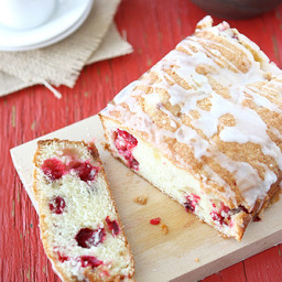 Glazed Cranberry and Crystallized Ginger Loaf (Quick Bread)