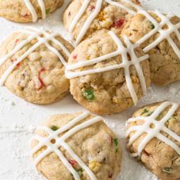 Glazed Fruitcake Cookies