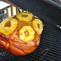 Glazed Grilled Easter Ham