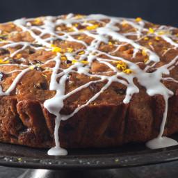 Glazed Skillet Fruitcake