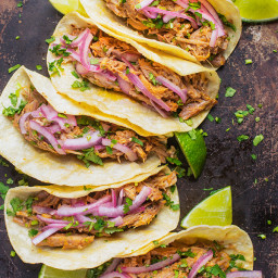 Gloria's Slow Cooker Pork Tacos with Pickled Onions