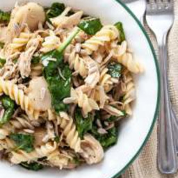 Gluten and Dairy-free Asian Pasta and Spinach Salad