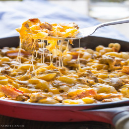 Gluten Free Bacon Cheeseburger Pasta