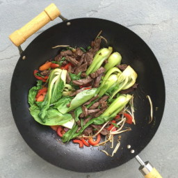 Gluten-Free Beef and Baby Bok Choy Stir-Fry