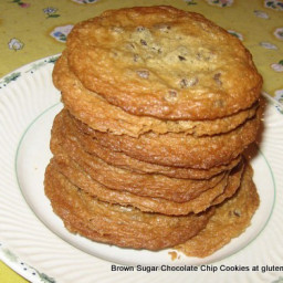 Gluten-Free Brown Sugar Chocolate Chip Cookies