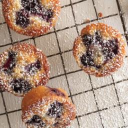 Gluten-free, browned-butter blackberry financiers