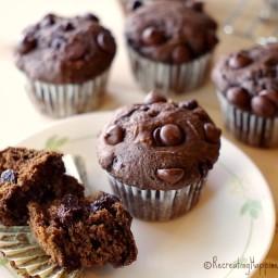 Gluten Free Chocolate Chocolate Chip Muffins