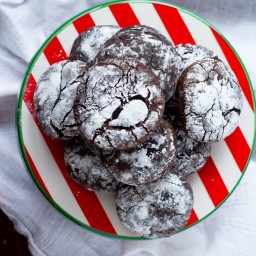 Gluten Free Chocolate Crinkle Cookies with Gingerbread Spice