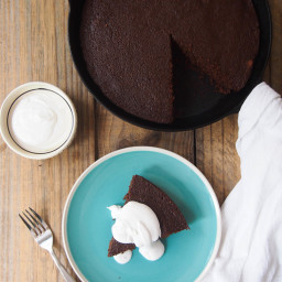 Gluten Free Chocolate Polenta Cake with Chili and Orange