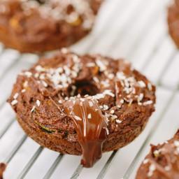 Gluten-Free Chocolate Zucchini Noodle Donuts with Coconut-Chocolate Glaze