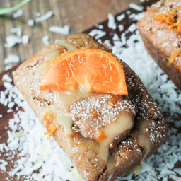 Gluten Free Coconut Clementine Mini Loaf Cakes