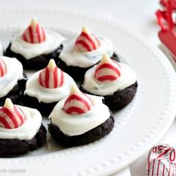 Gluten Free Dark Chocolate Peppermint Cookies