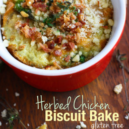 Gluten Free Easy Herbed Chicken and Biscuit Bake