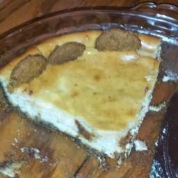 Gluten Free Eggnog Cheesecake w/ Ginger Snap Crust