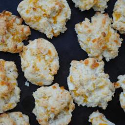 Gluten free Garlic Cheddar Drop Biscuits
