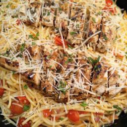 Gluten Free Grilled Chicken Spaghetti